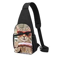 動物 猫 ワンショルダーバッグ クロスボディバックパック ボディバッグ 斜めがけ バッグ おしゃれ 男女兼用 軽量 大容量