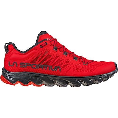 LA SPORTIVA Helios III, Zapatillas de Trail Running Hombre, Goji/Carbon, 45 EU