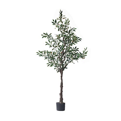 YBYB Artificial Tree Nordic Artificial Tree Olive Tree Branches with Olive Fruit Leaves for Home Wedding Decoration Plants Bonsai Fake Tree Fake Tree (Size : 160cm)