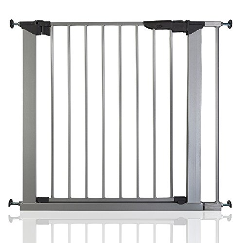 BabyDan Premier True Pressure Fit Baby Safety Stair Gate Silver All Widths (79.6cm-86.5cm)