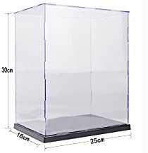 KENGEL 10x7x12 Inch Assembly Transparent Clear Acrylic Toys Display Dustproof Protection Showcase Case Box