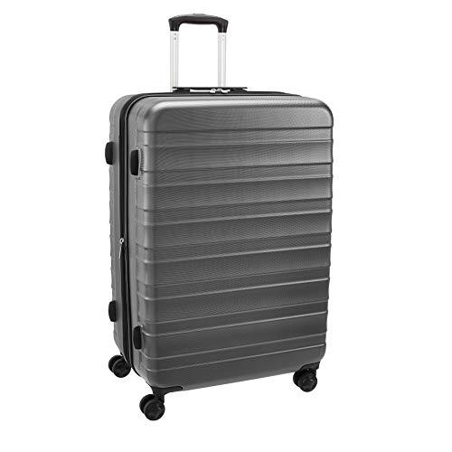 AmazonBasics - Trolley rigido e robusto, alta qualità, 78 cm, Grigio
