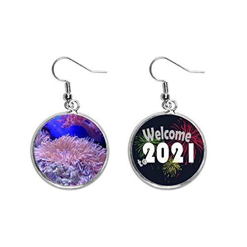 Ocean Science Nature Picture Ear Pendants Pendientes Joyería 2021 Bendición