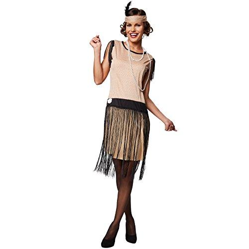 TecTake dressforfun Frauenkostüm Swing | Schönes Kleid im 20er Jahre Stil | Inkl. Haarband (L | Nr. 301607)