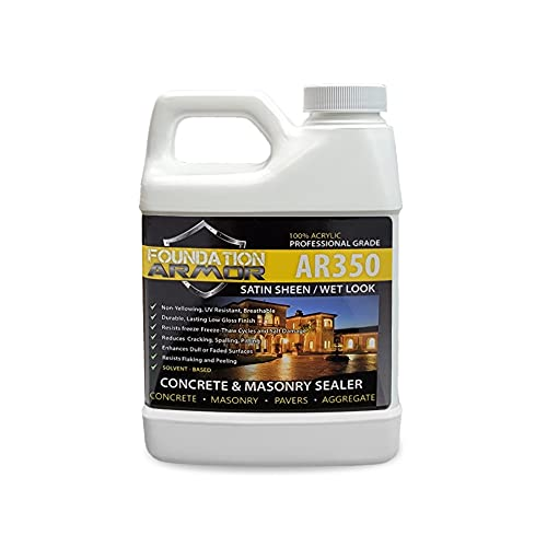 AR350 Solvent Based Acrylic Wet Look Concrete and Paver Sealer 16 OZ Sample