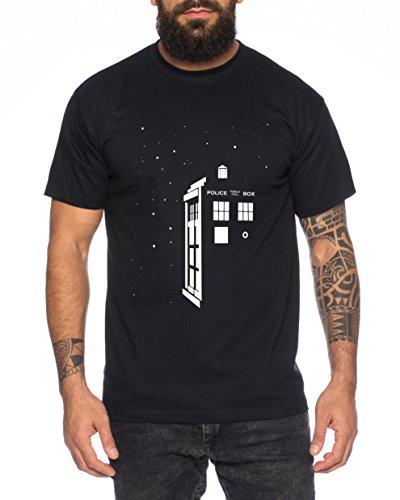 Star Doctor UK Who Space Box Dalek dr Police Doctor Herren T-Shirt, Farbe:Schwarz;Größe:3XL