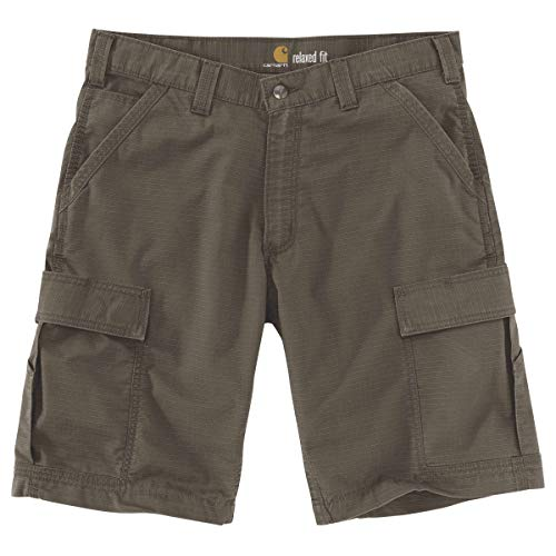 Carhartt Men's Force Relaxed Fit Ripstop Cargo Work Short, Tarmac, W32