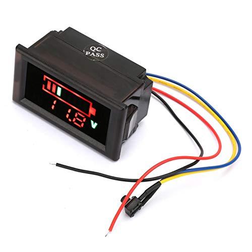 Crisis Voltímetro para automóvil eléctrico, función de protección inversa Indicador de batería Práctica Pantalla LED a Color para Paquete de batería para vehículo eléctrico