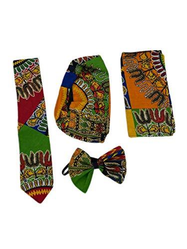 Culture Royals Dashiki - Juego de accesorios para traje de hombre (corbata,...
