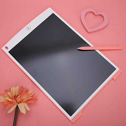 SALUTUYA La Parte Trasera Tiene Tabla de multiplicar, Tableta de Escritura LCD, con lápiz de Escritura, Material de Arte(Pink (with Lock Key))