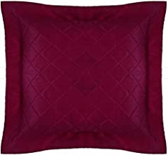 Floor Cushion Cover Quilted Decorative X Large Bed Throw Pillowcase Purple Plum Polyester with Flange Removable Cover, Ins...