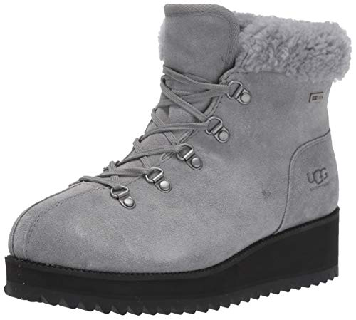 UGG Women's Birch LACE-UP Shearling Snow Boot, Geyser, 8.5 M US