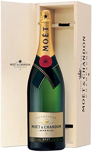 Moët & Chandon Brut Impérial Jeroboam Champagner Trocken mit Holzkiste (1 x 3 l)