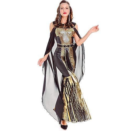 ZzheHou Disfraces de Halloween Damas Sexy Capa Diosa Serpiente Egipcia Encantadora Fiesta De Halloween Juego De Roles Vestido De Moda For Mujer Ropa de Terror de Halloween (tamaño : Metro)