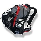 Waterflow Wasserabweisender Fahrradrucksack aus Segeltuch mit Helm- und Schuhfach max. 45 Liter (30L...
