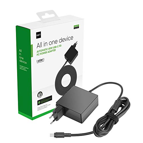 HKY 65 W 45 W Type C portátil Alimentador, USB C cargador adaptador para Lenove Hp Macbook IBM Thinkpad Xiaomi Dell Chromebook