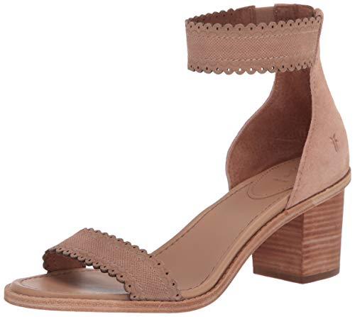 FRYE Damen Brielle Scallop Back Zip Sandalen mit Absatz, Blass-Rouge, 42 EU