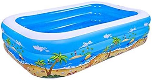Aufblasbares Familienbaby der Kinder des Pools des Erwachsenen Hauses, das überGrößes schaufelndes Pool verdickt (Größe   2.62M)