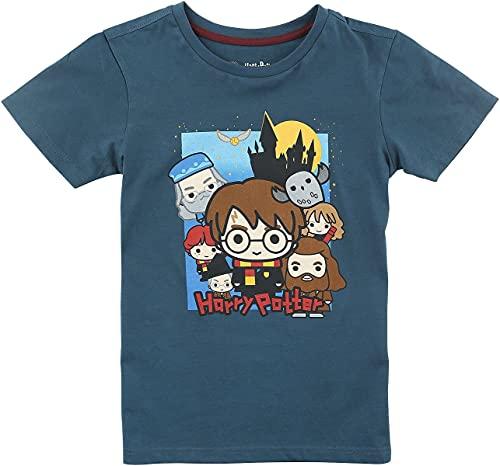 Harry Potter Groupshot - Camiseta unisex, color azul, diseño de Hogwarts, azul, 4 años