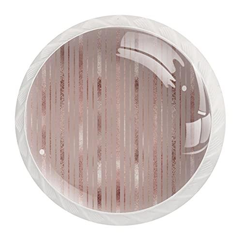 Pomos verticales de oro rosa y dorado, tiradores de cajón con tiradores de cristal para gabinete, hogar, oficina, armario (12 piezas)