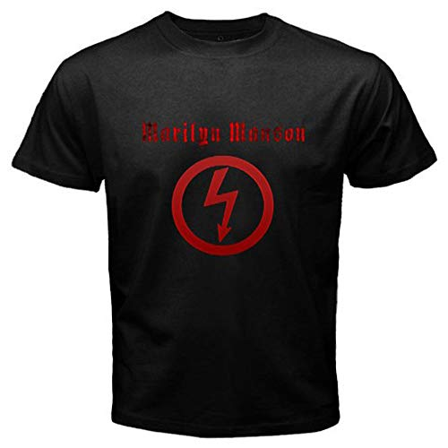 Marilyn Manson Metal Rock Icon Legend Men's Black T-Shirt Size S to 3XL