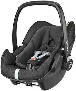 Maxi-Cosi Pebble Plus Silla Coche Grupo 0+ para bebé recien nacido hasta 12 meses, (45-75cm), I-Size, confortable reductor, material absorbe impactos, Puede subirse al avión, color nomad black