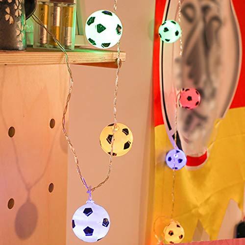 CRITY Lichterkette, Fußball Lichtleiste LED Nachtlicht Umweltschutz String Licht Indoor Lichterkette Garten Rasenlicht Zuhause Dekoratives Licht (Mehrfarbig)