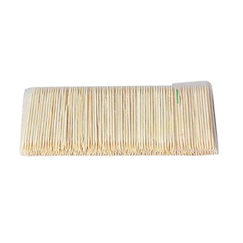 ELENXS New Bamboo Zahnstocher Cocktail-Steuerknüppel Appetizer Sticks