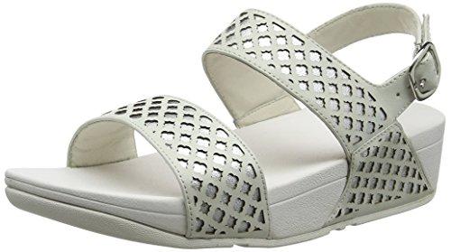 Fitflop Damen Safi Back Strap Sandal, Weiß Silberfarben, 40 EU