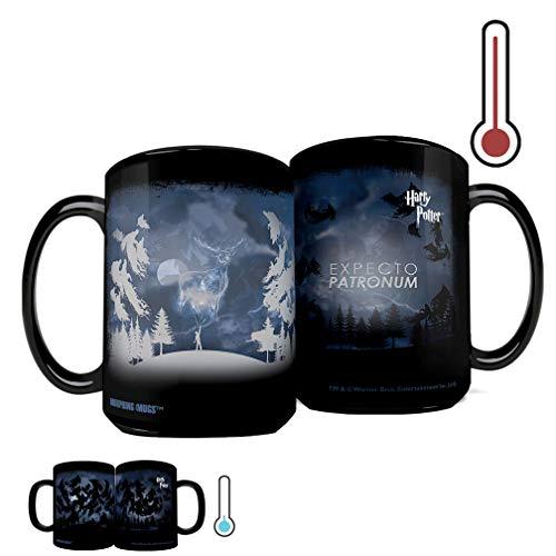 Harry Potter - Expecto Patronum Spell – 16 oz Large Ceramic Morphing Mugs Heat Sensitive Clue Mug – Full image revealed when HOT liquid is added