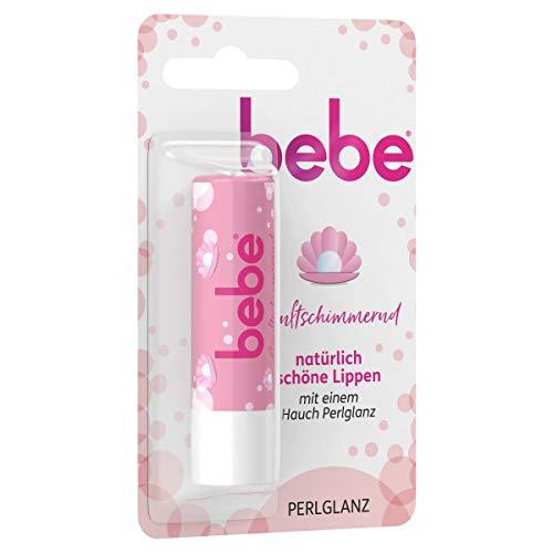 bebe Sanftschimmernd Lippenpflege, Lippenpflegestift mit Perlglanz und Vitamin E, 4,9 g