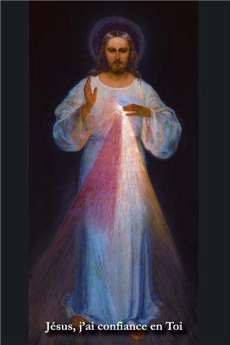 Lot de 10 Images 'Jésus j´ai confiance en Toi' - peinture de Vilnius - format 15x21 cm