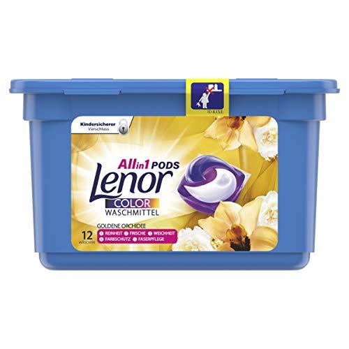 Lenor All-in-1 PODS Waschmittel Goldene Orchidee, 12Waschladungen