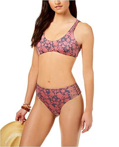 Dolce Vita Macrame Side Hipster Bikini Bottoms (Large) Rose