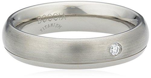 Boccia Damen-Ring You & me Titan Diamant (0.03 ct) Brillantschliff weiß Gr. 53 (16.9) - 0130-1153