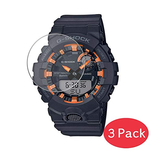 Vaxson 3 protectores de pantalla de vidrio templado para CASIO G-SHOCK Fire Pack 20 GBA-800SF-1AJR película protectora 9H Smart Watch