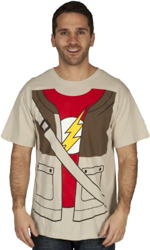 The Big Bang Theory Sheldon Cooper Disfraz Adulto Arena–Camiseta arena small