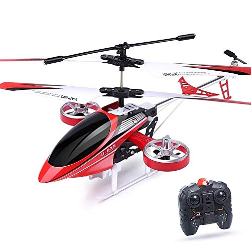 Mini RC helicóptero, helicóptero de control remoto con Gyro y luces LED for niños y adultos, 3.5 canal, Regalos frescos interiores Aeroplanos del juguete de los adolescentes de las muchachas de adulto