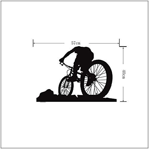Fahrrad Silhouette schwarz Wandaufkleber Wohnzimmer Schlafzimmer umweltfreundliche dekorative Wandmalerei-40 * 57CM