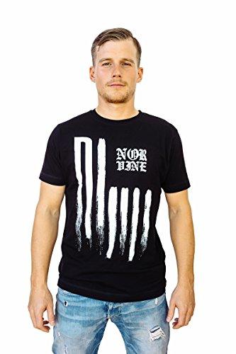 NORVINE T-Shirt American Flag Design, Größe:M, Farbe:Black