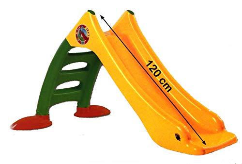thorberg Rutsche Kinderrutsche + Frisbee, Wasseranschluss 120cm Rutschbahn (EU Ware) gelb