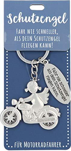 Depesche 11343_A Schutzengel Schlüsselanhänger Fahrt - 005 Motorrad dunkelblau