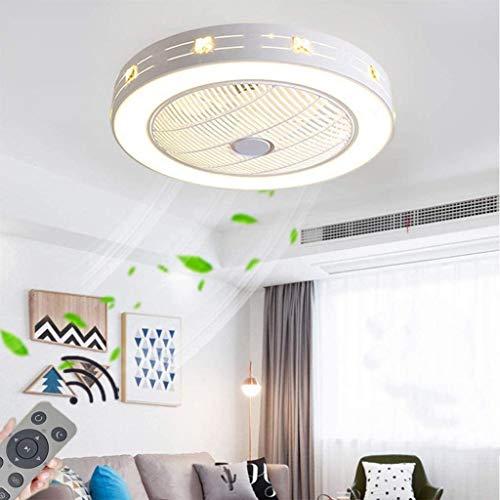 Ventilador de Techo Fan 72W LED Luz de Techo con Control Remoto, Creativa Lámpara Colgante Ajustable Moderna Lámpara de Techo silenciosa Lámpara de Ventilador Dormitorio Luces de Techo, Ø55cm