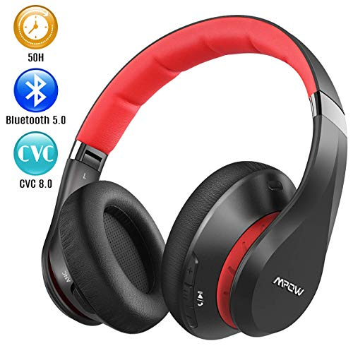 Mpow 059 Plus Active Noise Cancelling Headphones, 50 Hours Playtime Bluetooth Headphones Over Ear, Bluetooth 5.0, CVC 8.0 Mic, Fast Charging, Memory Foam Earpads, Deep Bass, for PC/Cell Phones/TV