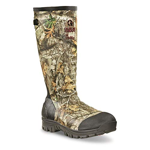 Guide Gear Men's Ankle Fit Insulated Rubber Boots, 2,400-gram, Realtree Edge, 12D (Medium)
