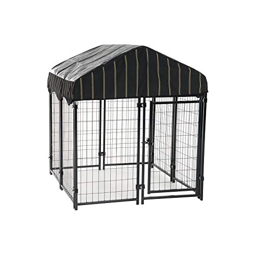 Lucky Dog Pet Resort Kennel with Cover (52'H x 4'W x 4'L)