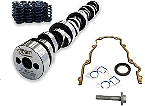 Texas Speed TSP Stage 2 Low Lift Truck Camshaft Includes GM LS6 Single Beehive Valve Springs,Set of 16 and Gasket Kit (Camshaft, Beehive Springs, Gasket Set)