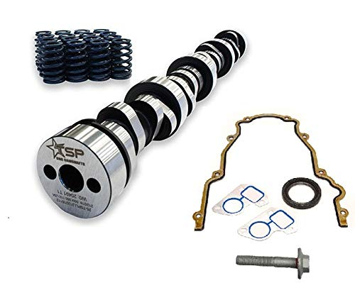 Texas Speed TSP Stage 2 Low Lift Truck Camshaft Includes LS6 Single Beehive Valve Springs,Set of 16 and Gasket Kit (Camshaft, Beehive Springs, Gasket Set)