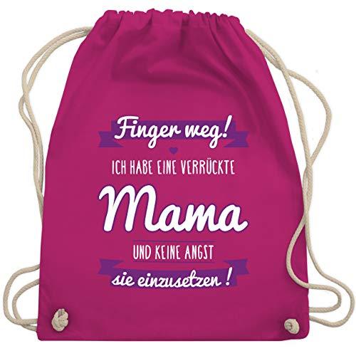 Shirtracer Sprüche Kind - Ich habe eine verrückte Mama lila - Unisize - Fuchsia - kinderrucksack jungen - WM110 - Turnbeutel und Stoffbeutel aus Baumwolle