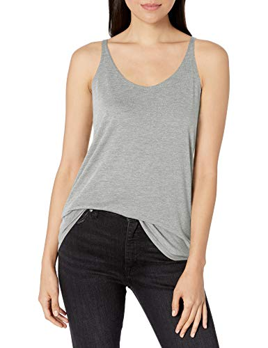 Clementine Apparel Women's Ladies Everyday Classic Slouchy Tank, Athletic Heather, XX-Large